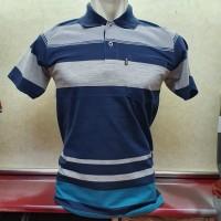 Polo Stripes size M / Wangki salur ukuran M - Biru