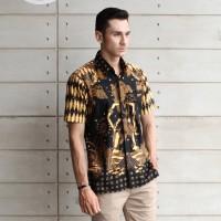 Batik Kultur Kemeja Pria - MSS - Wayang Diamond Sogan Light Dark Brown