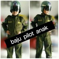 baju pilot tempur/kostum anak