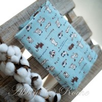 Kain Kanvas Impor motif Skyblue Cat