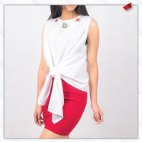 Baju Atasan Wanita Leher Bunga Mata Batu Bawah Iket IMPORT READY STOCK