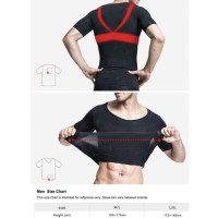 compression slimming shirt. kaos dalam kontrol ABS & punggung.