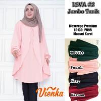 Baju Atasan Wanita Muslim Blouse/ Tunik Leva #2 jombo Vienka