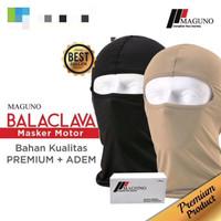 NEW Original Balaclava Maguno Biker Airsofter Masker Ninja Motor - Hitam