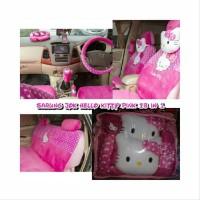 Sarung Jok Mobil 18 in 1 Hello Kitty Pink Honda Jazz 2004 Limited