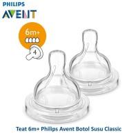 Philips Avent Classic Plus Nipple Teat Dot 6m+ Isi 2 Pcs