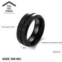 Ring Men / Cincin Pria Titanium Armor MIDDLE Stainless Steel MR-001 - No. 9