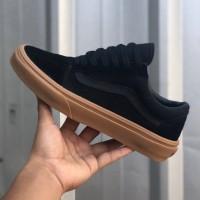 Sepatu Vans Old Skool Mono Vintage Black Gum BNIB Original Premium