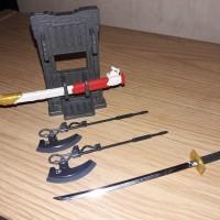 rg astray red (katana/pedang) & axe system weapon