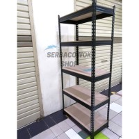 Kenmaster Rak 5 Susun Besi Kapasitas 750 KG Bebas Mur Baut Termurah