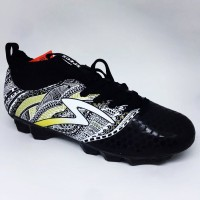 NEW Sepatu bola specs heritage fg black gold white original