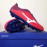 NEW Sepatu Bola Mizuno Rebula V4 High Red White Blue P1GA18