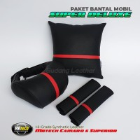 Bantal Mobil Set 3 in 1 - FULL MBTECH LEATHER