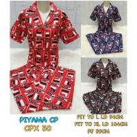 Piyama dewasa CP XL celana panjang baju pendek motif FILA