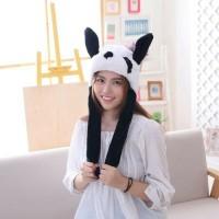 Panda bunny hat led topi goyang nyala