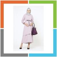 MAMIBELLE LANA Purple Maxi Dress Baju Hamil Menyusui Arabian Crepe