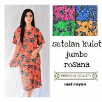 setelan kulot jumbo rosana - baju piyama wanita batik