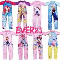 baju renang anak musilim SD carton pony frozen minne princess 3-11th