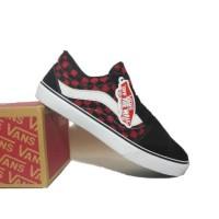 Sepatu Vans Old Skool Checkerboard / Vans Catur Hitam Merah Sepatu