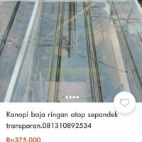 kanopi bajaringn atap bening spandek transparan wa 08119912534