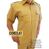 Seragam PEMDA Coklat Pria Baju Setelan PNS Seragam Setelan Dinas ASN
