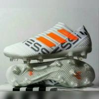 Sepatu Bola Adidas Nemeziz 17 360 Agility White Orange Messi Murah