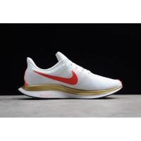 Sepatu Nike Zoom Pegasus 35 Turbo 2.0 White Red Gold Premium Original