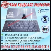 Keyboard Laptop ACER Aspire One 721 722 753 Series Hitam Packing Kayu