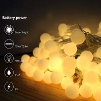 Lampu LED Tumblr Hias Bulat / Lampu Anggur Natal / Taman / Cafe