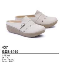 Garsel Shoes - Sepatu Bustong Wanita GDS 6469 CREAM