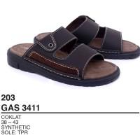 Garsel Shoes - Sandal Slipper Pria GAS 3411 COKLAT