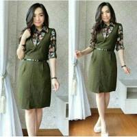 dres ivo army fashion wanita baju perempuan Berkualitas