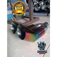 Tail Pipe Knalpot Mobil 5zigen Rainbow Cabang Muffler Jazz Brio Avanza