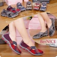 Bernice Cynthia Art 055 Original Sepatu Anyaman Rajut Wanita - Dus