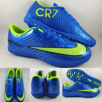 Sepatu Futsal Anak Nike Mercurial X CR7 Turf Blue Green Volt