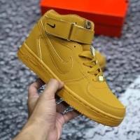 Nike airforcw 1 mid brown ( sepatu nike / sepatu tinggi 9
