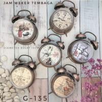 JAM WEKER STAINLESS WARNA TEMBAGA