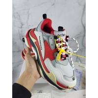 Sepatu Balenciaga Triple S Red Off White- BNIB    High Premium Quality
