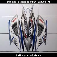 striping Sticker Mio J Sporty 2014 hitam biru