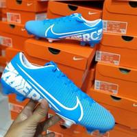 sepatu bola /futsal nike mercurial vapor 13 academy fg blue original