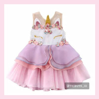 Dress Gaun Princess Baju Anak Bayi Perempuan Cewek Kuda Pony Unicorn