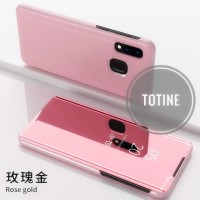 Dompet HP OPPO Realme 3 Pro Stand Back Cover Flip View Mirror Casing