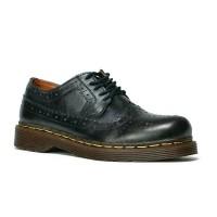 Sepatu Boots Pria Low Boot Wingtip Kulit Asli Docmart classic 1061 - Cokelat, 40