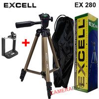 Tripod Excell EX 280 plus holder for Camdig actioncam dan Hp