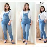 Baju Overall Jeans Levis Kodok Polos Lentur Melar Pria Wanita Big Size