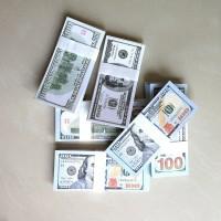 100Pcs/Pak Mainan Uang Dollar Ukuran 15.3cm*6.5cm