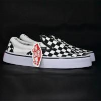 Sepatu Vans Slop Checkerboard Black Premium
