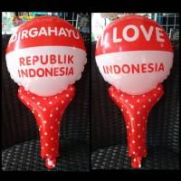 Balon Foil Pentungan Merah Putih Aksesoris Hut RI 17 Agustus