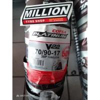 MILLION BAN - CORSA V22 70/90 RING 17 TUBELESS BAN MOTOR MURAH