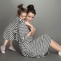 mom kid stripe/baju pasangan/baju couple ibu anak/salur